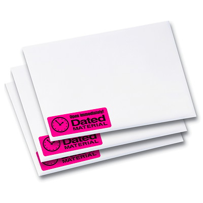 "Avery 5970 High-Visibility Rectangular Laser Labels, Neon Magenta, 2 5/8"" x 1"", 30 Labels/Sheet, 25 Sheets/PK 2-5/8X1 750LABELS/ENVELOPE"