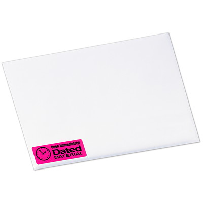 Avery Neon High-Visibility Rectangular Laser Labels 450LABELS/ENVELOPE 450/PK ASSR'D COLOURS YEL/GRN/MAGENTA