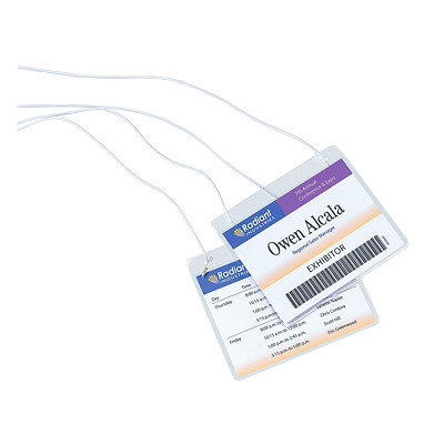 "Avery 5393 Cord-Style Hanging Name Badge Kit, White, 4"" x 3"", 50 Badges/BX NECK HANGING STYLE 54 INSERTS 50 BADGE HOLDERS & STRING"