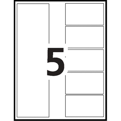Avery Ready Index Customizable Table of Contents Dividers, Multi-Coloured, Numbered (1-5), Letter-Size, 5 Tabs/ST, 1 Set/PK FR BINDR REINFORCD TABS&HOLES INKJET & LASER AVERY  20% PCW