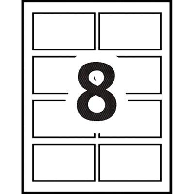 "Avery Garment-Friendly Clip-Style Name Badge Kit, White, 2 1/4"" x 3 1/2"", 100/BX KIT  2-1/4""X 3-1/2"" 100/BOX"