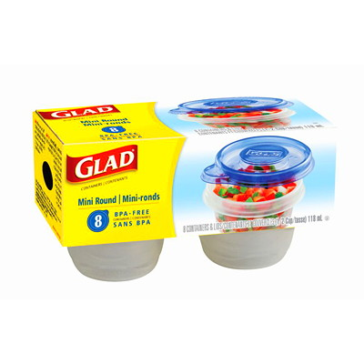 Glad Food Storage Containers and Lids 8 PACK