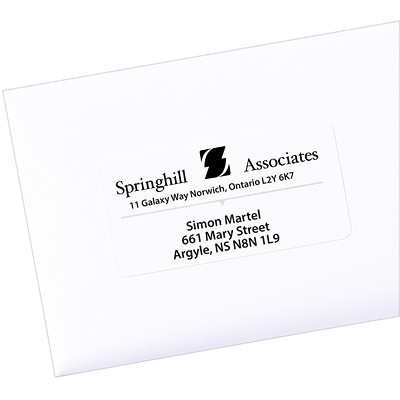 "Avery 5263 Shipping Labels with TrueBlock Technology, White, 2"" x 4"", 10 Labels/Sheet, 25 Sheets/PK PERMANENT  WHITE  SHEET LASER  4"" X 2""  250 LBLS/PKG"