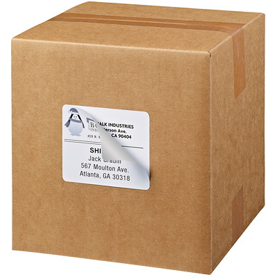 "Avery 5264 Shipping Labels with TrueBlock Technology, White, 3 1/3"" x 4"", 6 Labels/Sheet, 25 Sheets/PK PERMANENT  WHITE LASER  4X3-1/2""  150 LBLS/PKG"