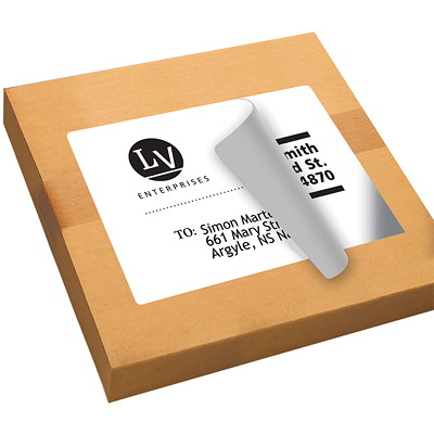 Avery White Shipping Labels with TrueBlock Technology  1/SHEET PERMANENT ADHESIVE AVERY 100 SHEETS/BX