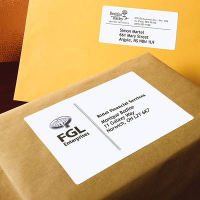 """Avery 5168 Shipping Labels with TrueBlock Technology, White, 3 1/2"""" x 5"""", 4 Labels/Sheet, 100 Sheets/BX 5X3-1/2 4/SHT 400/BOX"""