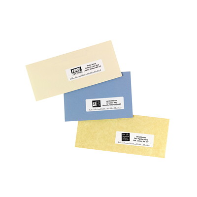 "Avery White 1 1/3"" x 4"" Easy Peel Address Labels 14/SHEET PERMANENT ADHESIVE AVERY 100 SHEETS/BX 1400/BX"