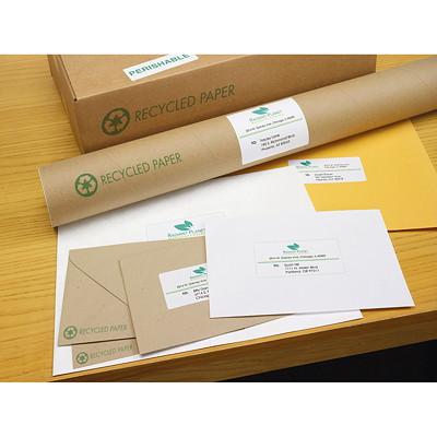 "Avery 48460 EcoFriendly Address and Shipping Labels, White, 1"" x 2 5/8"", 30 Labels/Sheet, 100 Sheets/PK 1""X2-5/8"" 30/SHT  100SHTS/BX 3000/BX INKJET & LASER COMPAT."