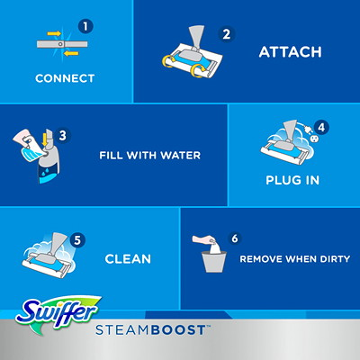 Swiffer Bissell SteamBoost Scented Steampad Refills, 20/Box OPEN WINDOW FRESH