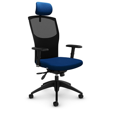 Global Alero High-Back Mesh Multi-Tilter Chair with Headrest