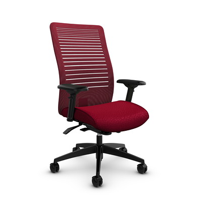 Global Loover High-Back Mesh Weight-Sensing Synchro-Tilter Chair