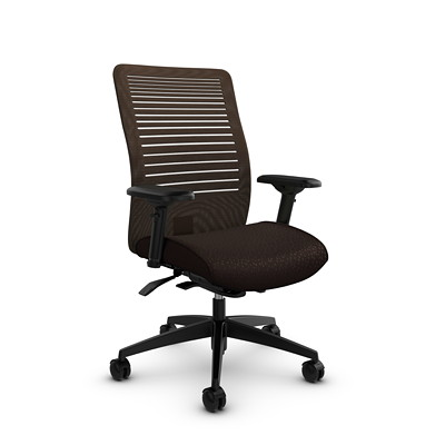 Global Loover Mid-Back Mesh Weight-Sensing Synchro-Tilter Chair