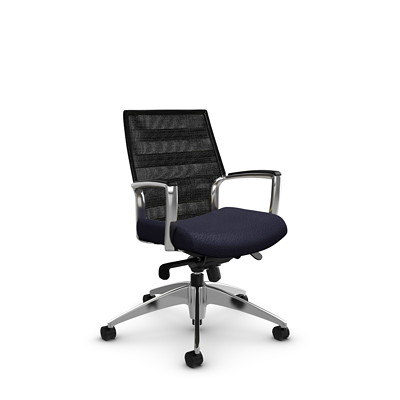 Global Accord Low-Back Mesh Knee-Tilter Chair