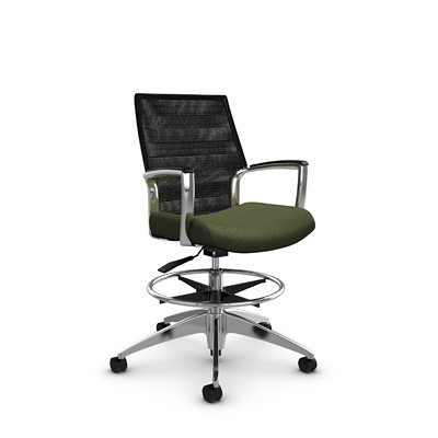 Global Accord Mid-Back Mesh Drafting Chair