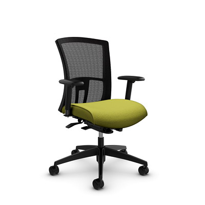 Global Vion Mid-Back Mesh Weight-Sensing Synchro-Tilter Chair