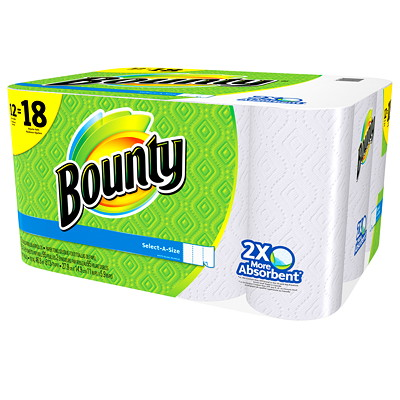 Bounty Select-A-Size White Paper Towels  SELECT-A-SIZE  WHITE 95 SHEETS/ROLL