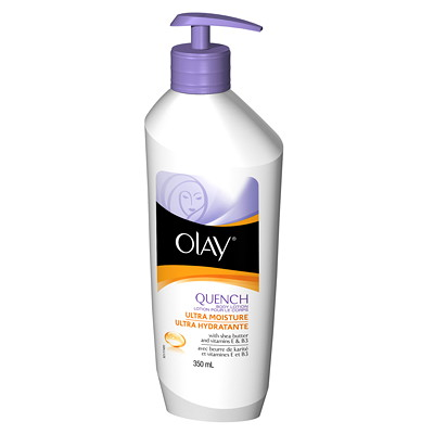 Olay Quench Ultra Moisture Body Lotion, 350 mL  PUMP  ULTRA MOISTURE QUENCH