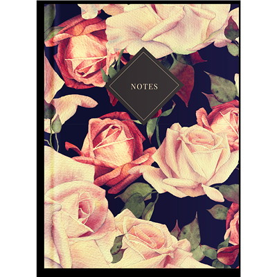 "Pierre Belvedere Large 7"" x 9 1/2"" Notebook ROSES. SOLID BOUND 7"" X 9.5""  190 LINED PAGES."