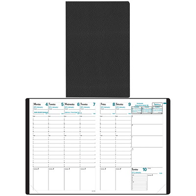 """Quo Vadis 13-Month Weekly Trinote Toscana Planner, 7 1/4"""" x 9 1/2"""", Black, December 2020 - December 2021, English TOSCANA COVER BLACK"""
