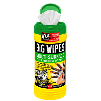 BIG WIPES MULTI-SURFACE   4X4 80 WIPES PER TUB CASE OF 8