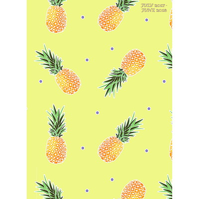 PINEAPPLES AY MONTHLY PLANNER 9.25X11 PERFECT PLANNER