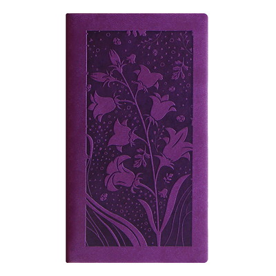 Letts Weekly Pocket Planner PURPLE BLOSSOM PERFECT BINDING  SOFT COVER