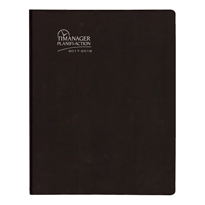 Blueline Timanager 13-Month (July 2017 to July 2018) Student/Academic Weekly/Monthly Planner JULY TO JULY BLACK  BILINGUAL