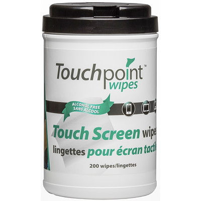 TouchPoint TouchScreen Wipes LINT-FREE FOR ANY TOUCH SCREEN ALCOHOL-FREE  STREAK-FREE