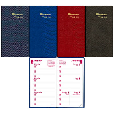 Brownline Pocket-Size Weekly Planner ENGLISH ASST.CHA BLU RED GRN 50 % PCW  FSC CERT