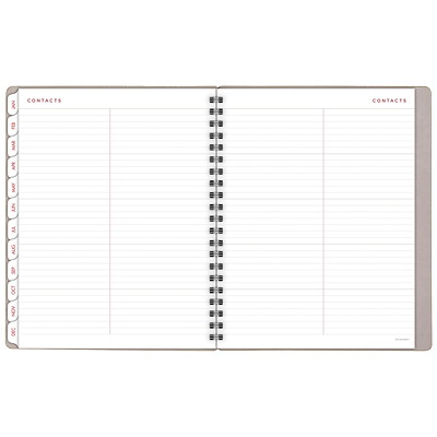 "At-A-Glance YoPro Weekly/Monthly Planner  WEEKLY/MONTHLY  8-3/4"" X 11"" GREY FAUX LEATHER W/OLIVE"
