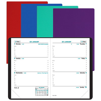 "Quo Vadis Sapa X Weekly Appointment Planner 1 WK ON 2 PAGES  3 1/2X5 1/2"" STITCHED BINDING 2 NOTE PG/MTH"