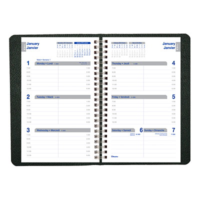 Net Zero Carbon Planner TWIN-WIRE BINDING  SOFT COVER BILINGUAL  BLACK