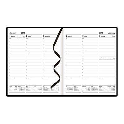 Letts of London Principal Weekly Planner  X 8-1/4 2PPW HARD COVER BLACK FSC CERTIFIED