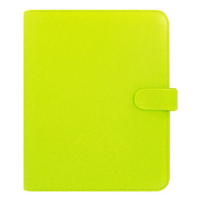 "Filofax Saffiano Weekly Organizer, 7 2/3"" x 9 1/4"", Green, January 2019 - December 2019, Multilingual SAFFIANO - PEAR A5 SIZE  MULTILINGUAL"