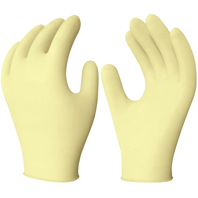 Ronco Gold-Touch Synthetic Stretch Powder-Free Disposable Examination Gloves, Small, Tan, 100/BX  EXAM GLOVE  100/PK PWDR FREE