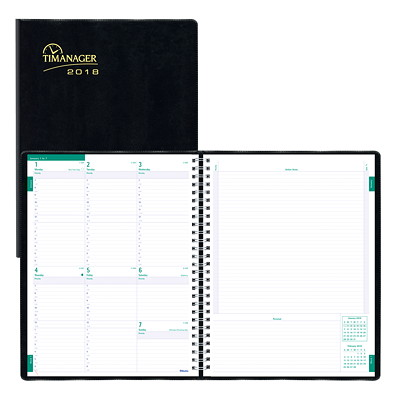 "Blueline Timanager 5-Day Schedule Weekly Planner 11"" X 9 1/16"" BILINGUAL 50% PCW FSC CERTIFIED"