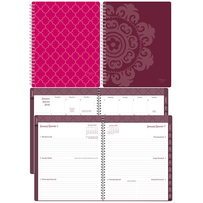 Mead Weekly/Monthly Caprice Collection Planner POLY CAPRICE COLLECTION