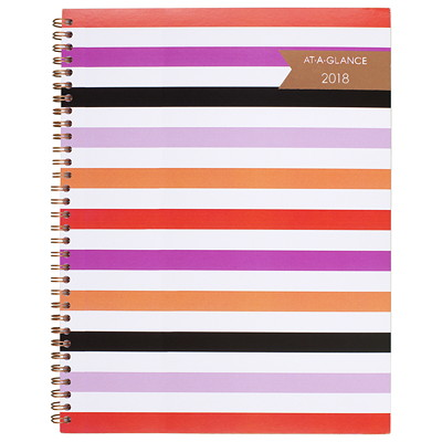At-A-Glance Weekly/Monthly Planner  WEEKLY/MONTHLY  9-1/4 X 11-3/8 STRIPED POLY COVER