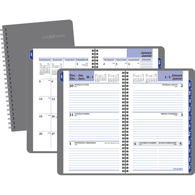 DayMinder Recycled Traditional Weekly/Monthly Planner  12 MONTHS (JANUARY-DECEMBER) BILINGUAL