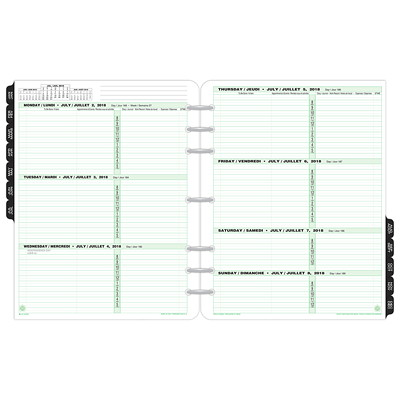Day-Timer Folio-Size Loose-Leaf Planner Refill 8-1/2 X 11 VENDOR ITEM 68532 30% PCW
