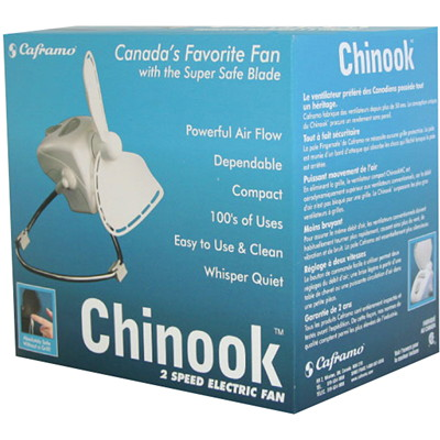 Caframo Chinook 2-Speed Electric Fan FINGERSAFE BLADE EASY TO USE & CLEAN