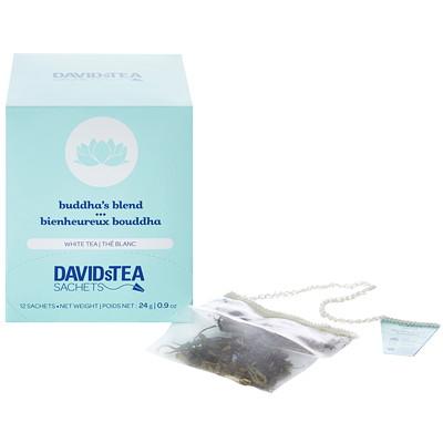 DAVIDsTEA Sachets Boxed Buddha's Blend White Tea, 12/Box 12/BOX INDIVIDUALLUY  WRAPPED
