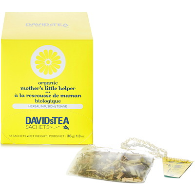 DAVIDsTEA Sachets Boxed Tea  12/BOX INDIVIDUALLUY  WRAPPED