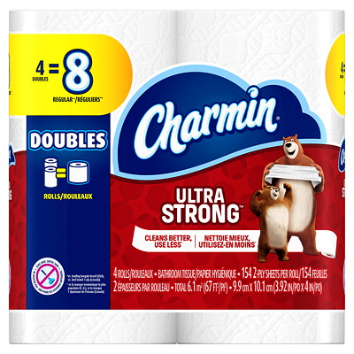 Charmin Ultra Strong Bathroom Tissue 4=8 154 SHEETS/ROLL