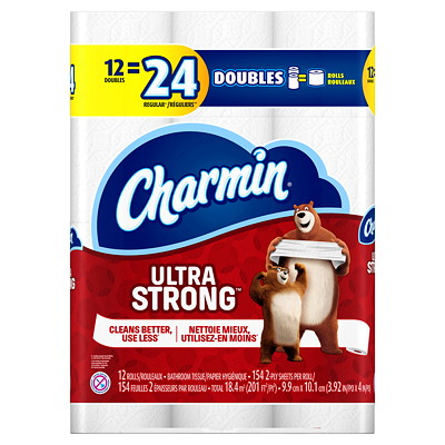 Charmin Ultra Strong Bathroom Tissue 12=24 154 SHEETS/ROLL
