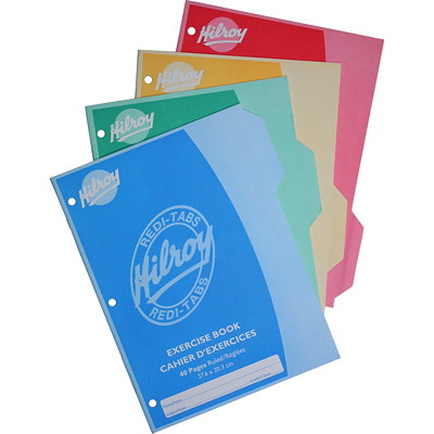 Hilroy Redi-Tabs Exercise Books RULED WITH TABS