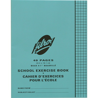 Hilroy School Exercise Book  TO 1INCH BLUE FEINT LINES 40PG