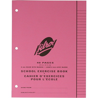Hilroy School Exercise Book  40PAGES