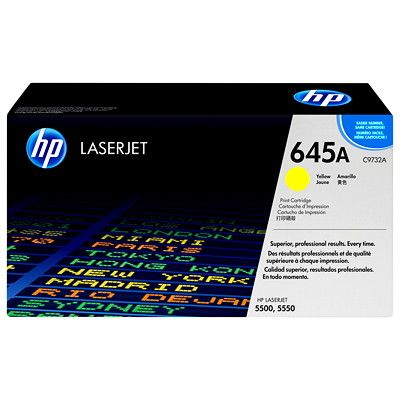 HP 645A (C9732A) Yellow Original LaserJet Toner Cartridge SMART PRINT CART.12000PG YIELD HP