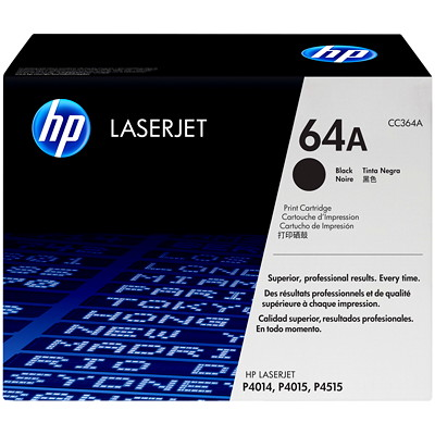 HP 64X (CC364X) Black High Yield Original LaserJet Toner Cartridge P4015  4515 HIGH YIELD 24K
